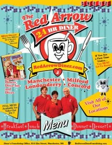 Red Arrow Menu Cover Concord