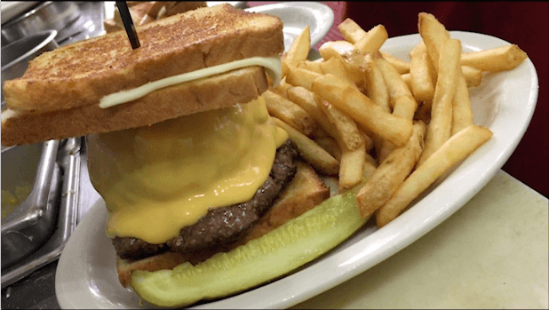 Trump Tower Burger at the Red Arrow Diner Manchester