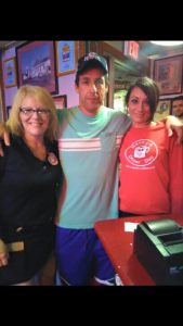 Adam Sandler at the Red Arrow Diner Manchester