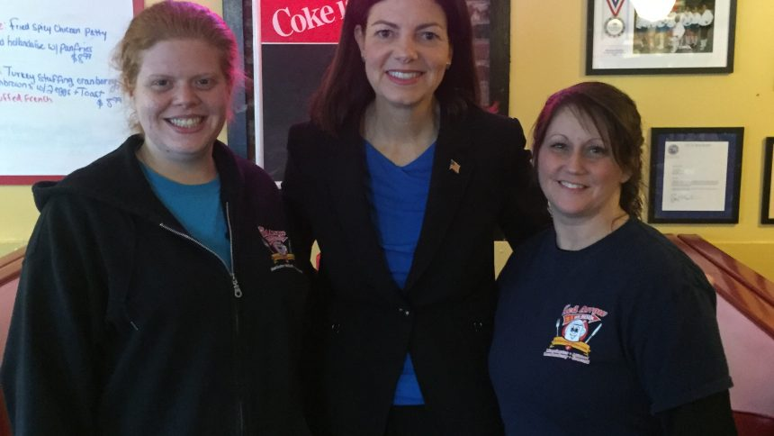 Kelly Ayotte at the Red Arrow Diner Manchester