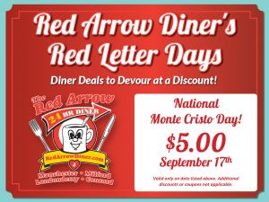 Red Arrow Diner's Red Letter Day Meal Deals