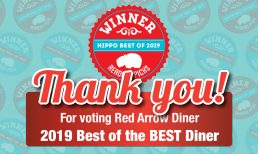 Red Arrow Diner receives Hippo Best of 2019 Award!