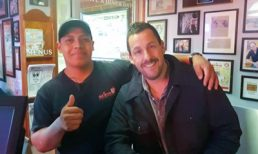 Adam Sandler Grabs a Late-Night Bite at Red Arrow Diner
